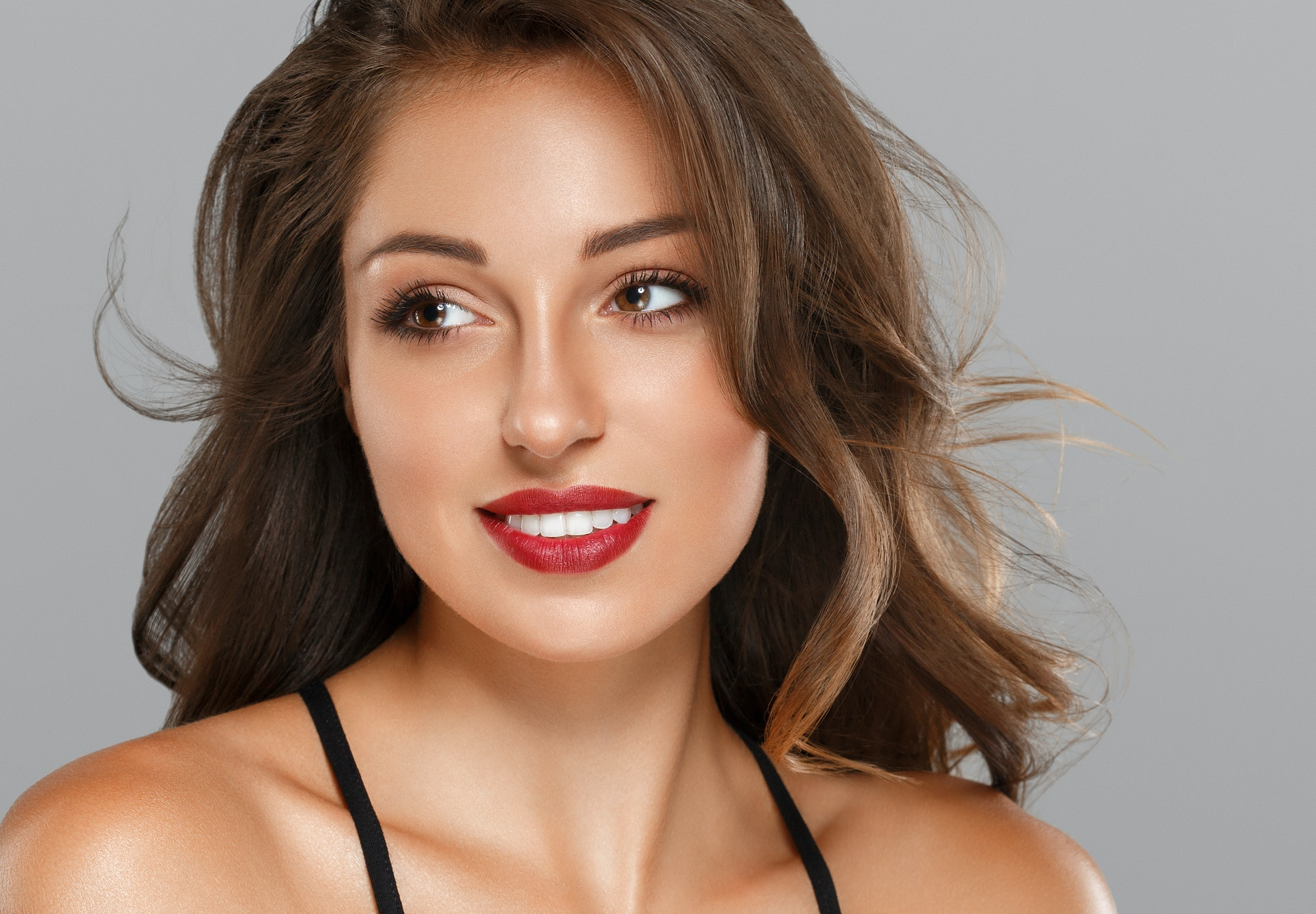 Woman portrait beautiful young female model face